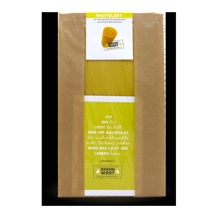 Bastelset Bienenwachskerzen
