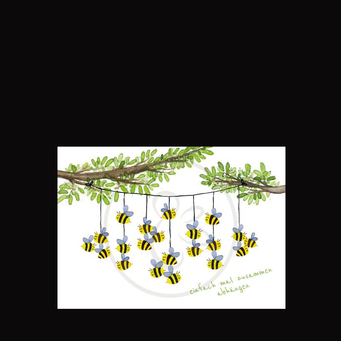 Bienenpostkarte abhängen