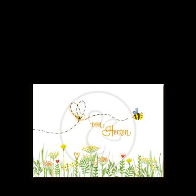 Bienen Postkarte von Herzen